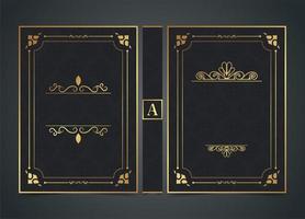 dekoratives Retro-Buchumschlagdesign vektor