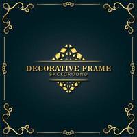 eleganter dekorativer Rahmenhintergrund