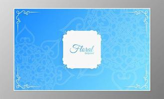 dekorativ blå mandala dekorativ bakgrundsdesign vektor