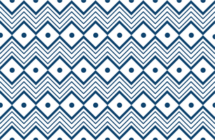 geometrisches Muster der blauen Stammeslinie