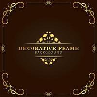 eleganter dekorativer Rahmenhintergrund vektor