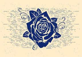 Free Vector Rose Schablone
