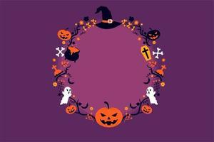 Halloween Kreisrahmen vektor