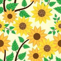 schönes Blumen- und Blatttexturmuster vektor