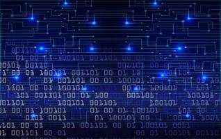 Blue Cyber Circuit Zukunftstechnologie Hintergrund