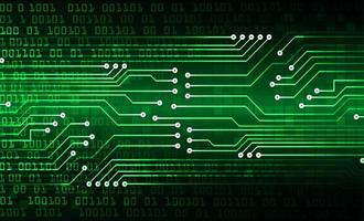 grön cyberkrets framtida teknikbakgrund vektor