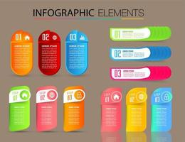 modern textrutmall, bannerinfographics