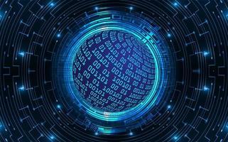 Hintergrund des Technologiekonzepts der blauen Welt Cyber Circuit vektor