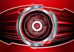 Hintergrund des zukünftigen Technologiekonzepts der Cyber-Schaltung der roten Augen