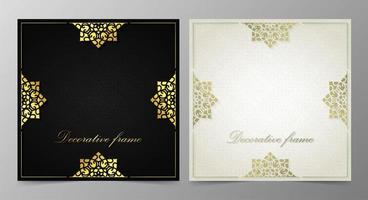 elegante dekorative Rahmen Design Hintergrund vektor