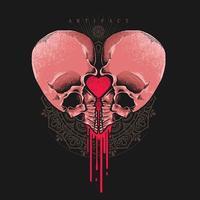 hjärtformade skalle