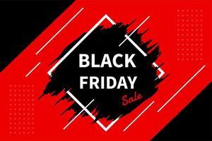 Werbelabel mit einem Produktverkauf während des schwarzen Freitags