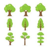 platt trädsamling vektor
