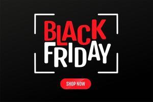 svart fredag textdesign och shoppa nu knappar vektor