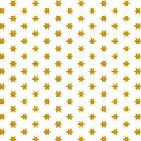Muster goldener Stern auf weißem Hintergrund vektor