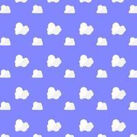 Muster flauschige weiße Wolke auf blauem Hintergrund vektor