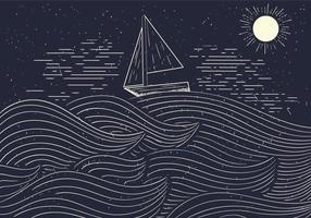 Kostenlose detaillierte Vektor-Illustration des Meeres vektor