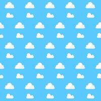 Muster weiße Wolke auf blauem Hintergrund vektor