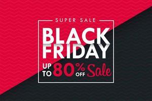 svart fredag textruta på svart och rosa bakgrund