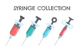 uppsättning sprutor som innehåller vacciner mot virus