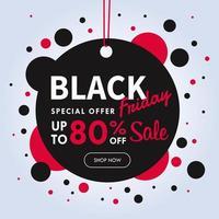 försäljningsetikettdesign för att göra en kampanj för blackfriday vektor