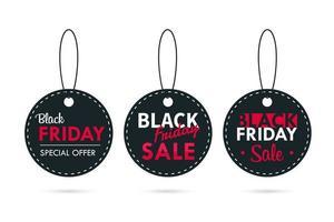 Sale Label Design für eine Promotion für Blackfriday vektor