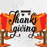 lycklig tacksägelse banner design vektor