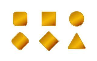 Gold geometrische Formen Abzeichen Sammlung