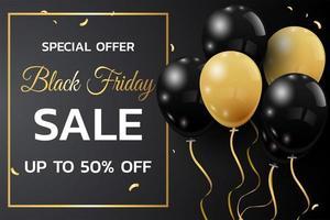 svart fredag försäljning banner rabatt design