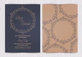 Vektor Elegant Bröllop Inbjudan
