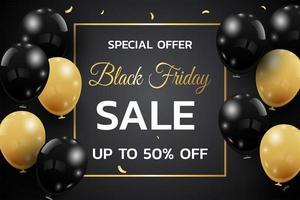 schwarzer Freitag Verkauf Poster Design vektor