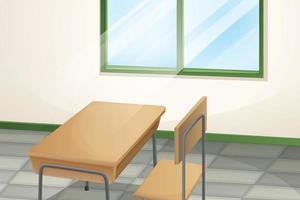 Tisch und Stuhl im Zimmer