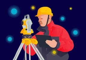 Free Surveyor Vektor-Illustration vektor
