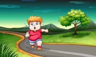 ein kleiner Junge joggt