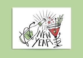 Kostenlose Neujahrskarte vektor