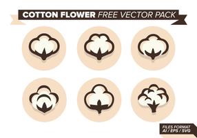 Bomull Blomma Gratis Vector Pack