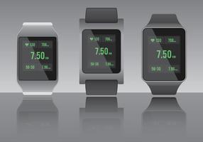 Herzfrequenz Smartwarch Fitness App vektor