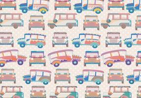 Jeepney mönster vektor