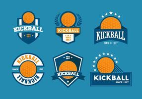 Kickball vektor emblemsatser