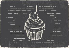 Free Hand gezeichnet Muffin Vektor Hintergrund