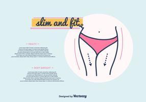 Slim och Fit Vector