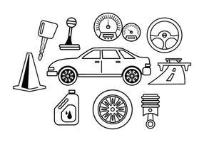 Gratis bil underhållsvektor vektor