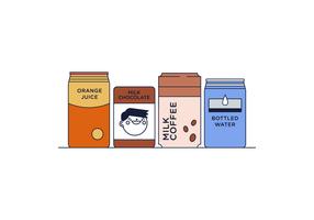 Free Beverage Dosen Vektor