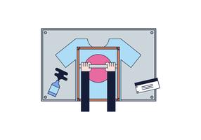 Freies T-Shirt Presse-Vektor vektor