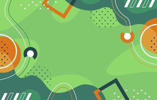 Spaß grüner geometrischer Memphis Hintergrund vektor