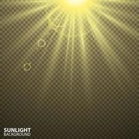 transparent solljus med spotlight vektor