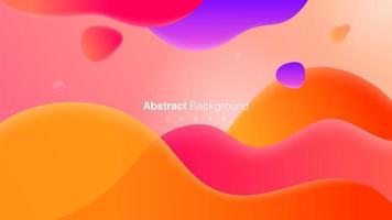 flüssiges buntes Hintergrunddesign vektor