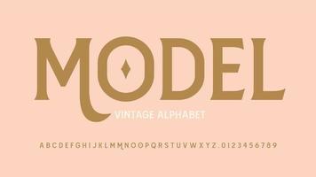 moderne Vintage Serifenanzeige Schriftart vektor