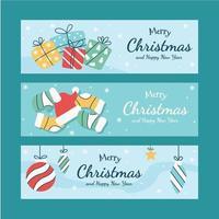 Weihnachtszeit Banner Sammlung vektor