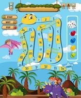 Spaß Schlangenleiter Spielvorlage vektor